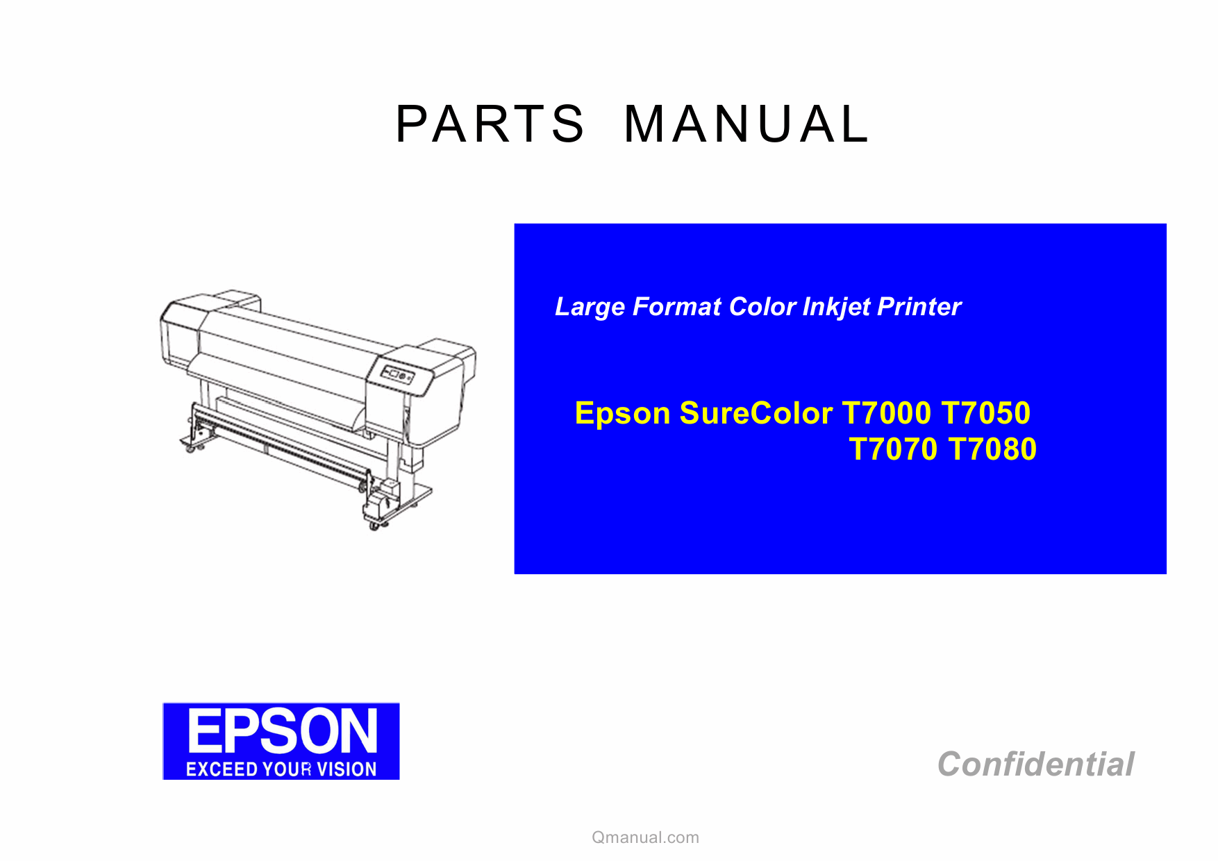 EPSON SureColor T7000 T7050 T7070 T7080 Parts Manual-1
